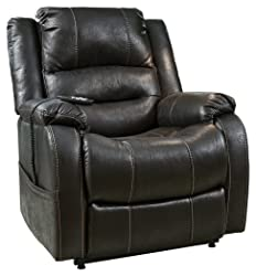 Ashley Furniture Signature Design - Yandel Power Lift Recliner - Contemporary Reclining Couch - Black