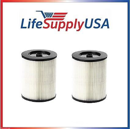 .com: 2 filters to fit shop vac craftsman 17816, 9-17816 wet ...