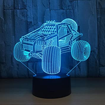 Led Illusion Light® Voiture 3d Lampe Lampes 7 De Chevet Oofay PkXnO80w