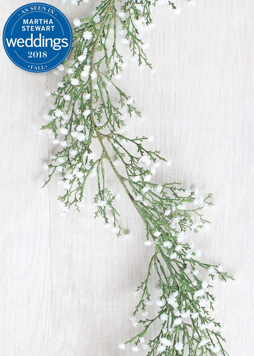 Afloral-Plastic-Outdoor-Babys-Breath-Garland-in-White-6-Long