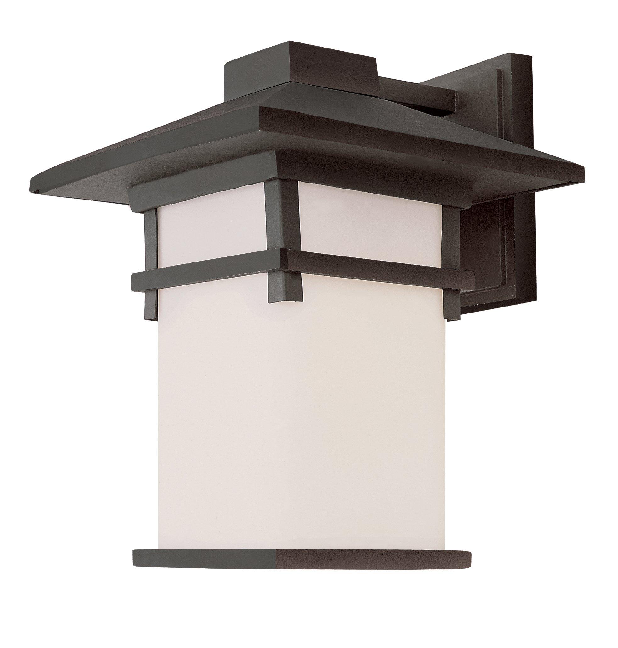 Trans Globe Lighting 40022 BK 13-Inch Mission Wall Lantern, Black