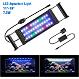 FTALGS LED Aquarium Light with Extendable Brackets, Full spectrum LEDs,Fish Tank Light For Fresh water and Salt Water. (40A=11.8''-21.6''(28CM))