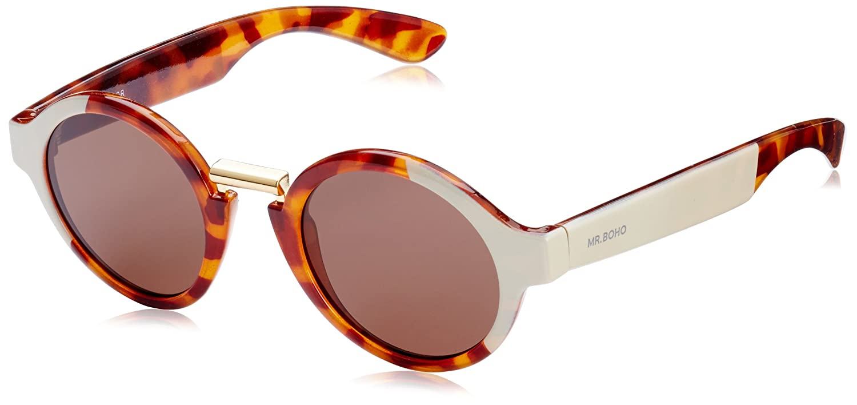 MR.BOHO, Cream/leo tortoise bushwick with classical lenses - Gafas De Sol unisex multicolor (carey/crema), talla única