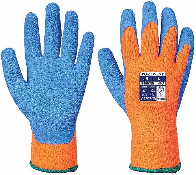 Portwest Cold Grip Construction Outdoor Protection Hand Wear Work Warm ANSI 105 Large A145OBLL