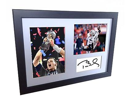 Amazon.com: Tom Brady 12 x 8 firmado