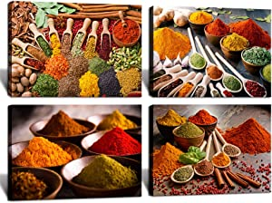 HOMEOART Herbs and Spices Kitchen Decor Pictures Dining Room Food Poster Prints Wall Decor 12