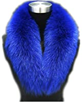 Large Long Detachable Natural Fox Fur Collar for Winter