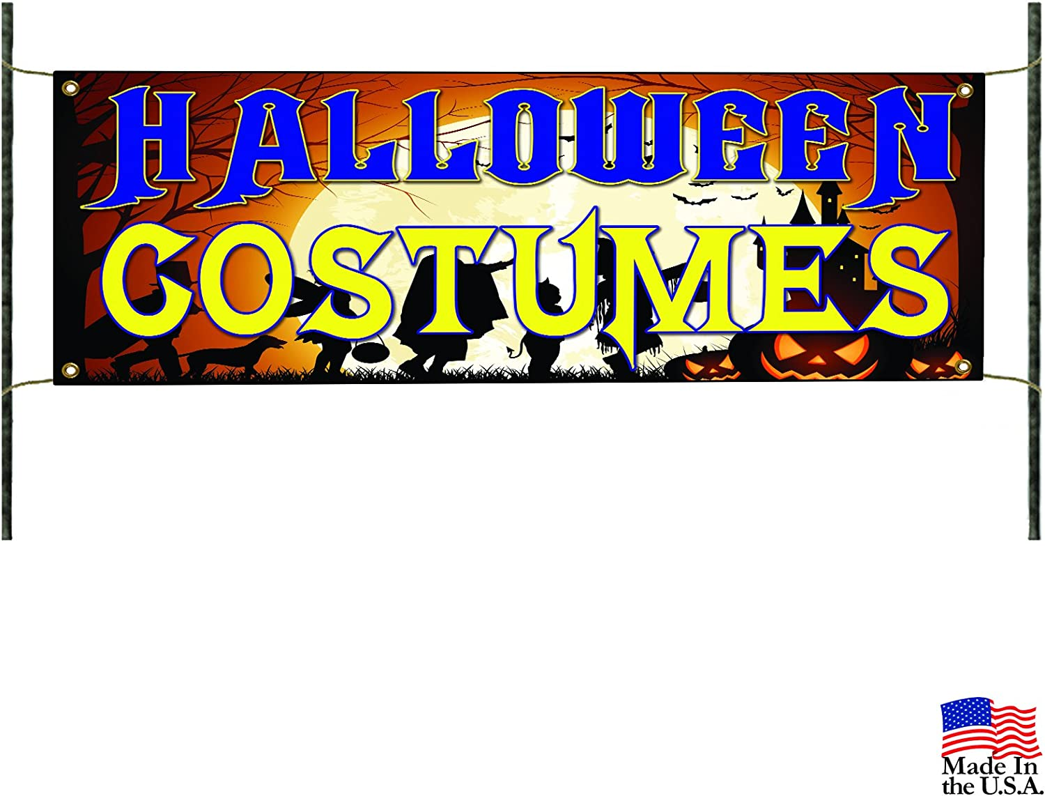 Halloween Costumes for Sale Party D/écor Retail Advertising Vinyl Banner Sign