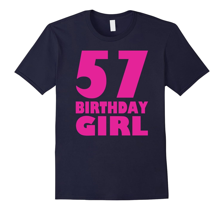 Womens 57th Birthday Girl 1960 Pink Funny T-Shirt-PL