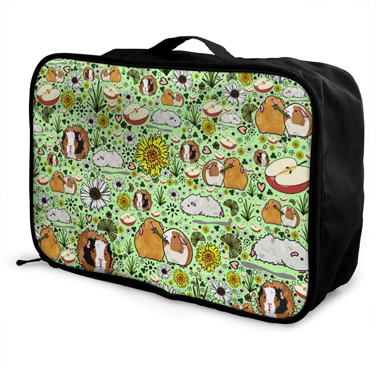 Portable Luggage Duffel Bag Guinea Pigs Travel Bags Carry-on in Trolley Handle JTRVW Luggage Bags for Travel