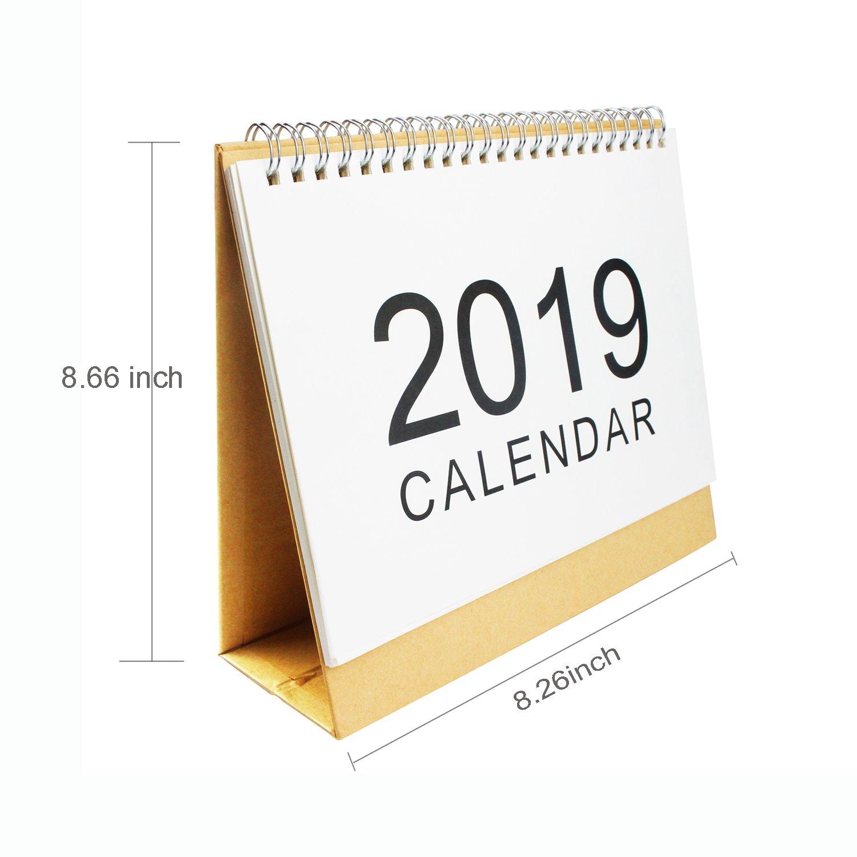 Calendars, Planners & Cards Calendar Sporting 2019 Simple Series Perpetual Calendar Diy Desktop Calendar Agenda Organizer Daily Schedule Planner