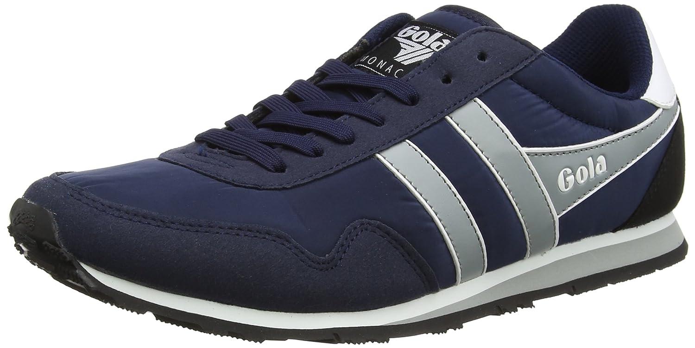 Gola Herren Monaco Sneakers, Blau (Navy/Grey/White), 43 EU