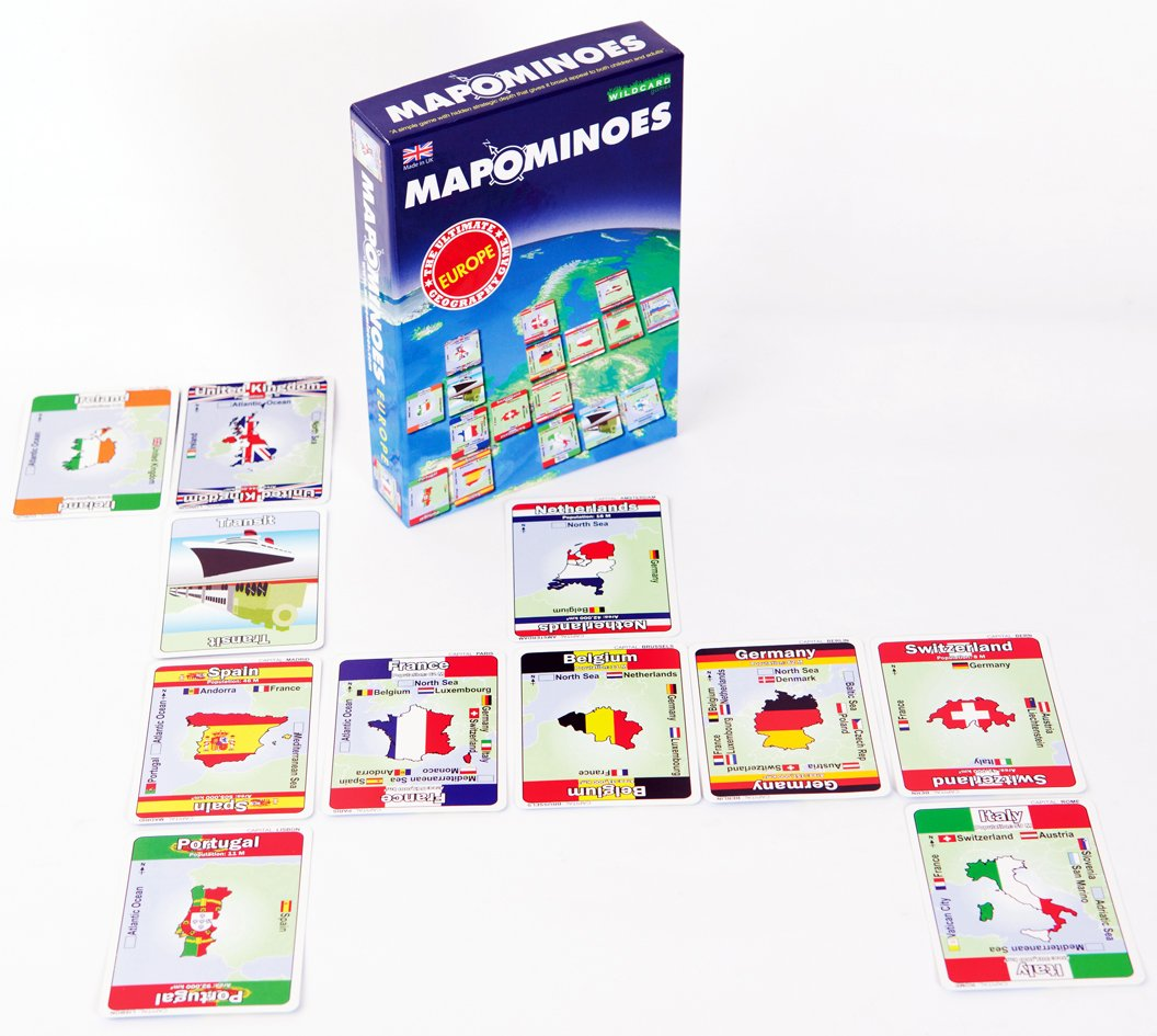 Amazoncom MAPOMINOES EUROPE The Ultimate Geography Game Fun - Online geography games