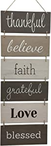 Hanging Wall Décor Sign - Welcome Vertical Wall Art Decorations, Rustic Home Farmhouse Accessories for Living Room, Bedroom, Bathroom, Family, Dining, and Kitchen, Signs for House, Decoration Plaque