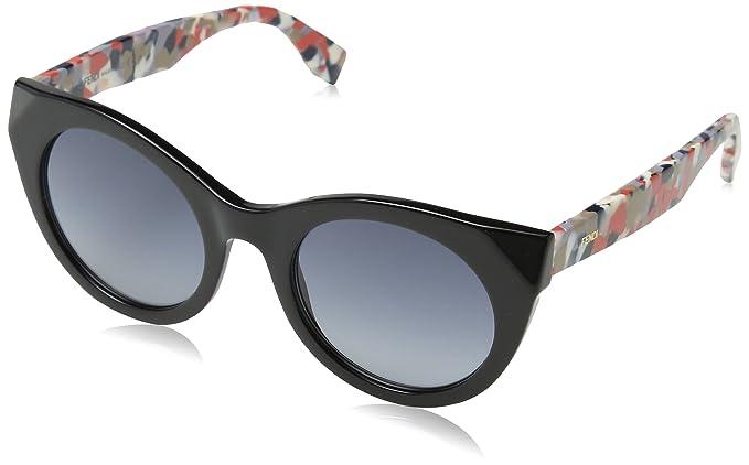 Chromia Cateye Sunglasses in Black Multi-coloured FF 0203/S 738 50 Fendi wlknpmVB