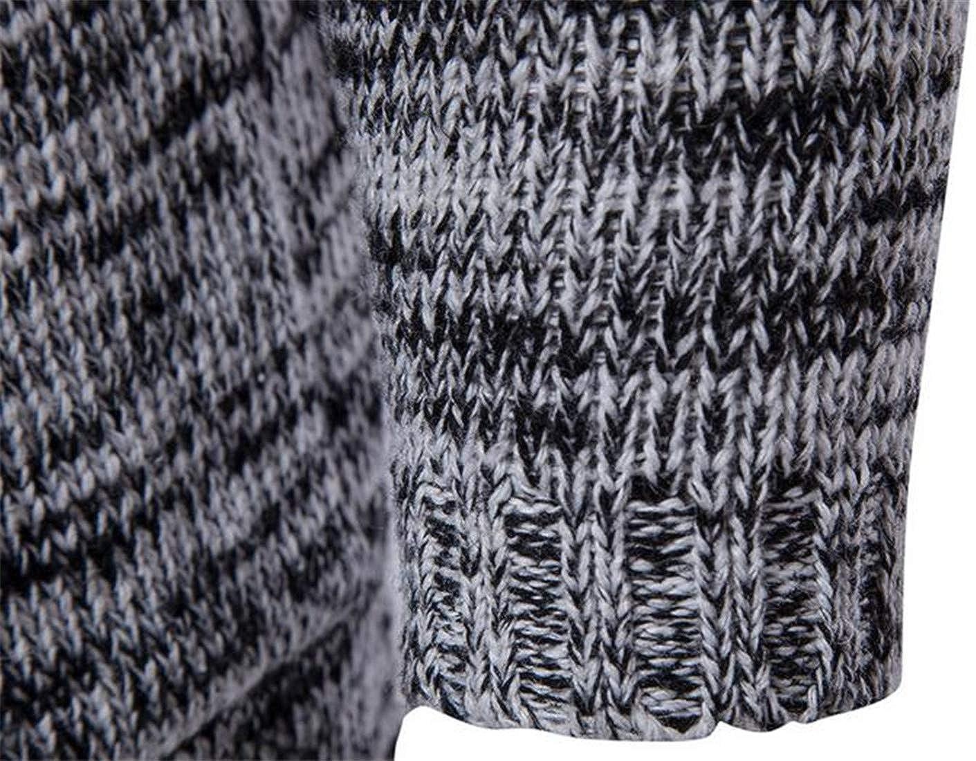 XiaoTianXinMen XTX Mens Autumn Sweater Knitwear Hooded Pocket Open Front Cardigan
