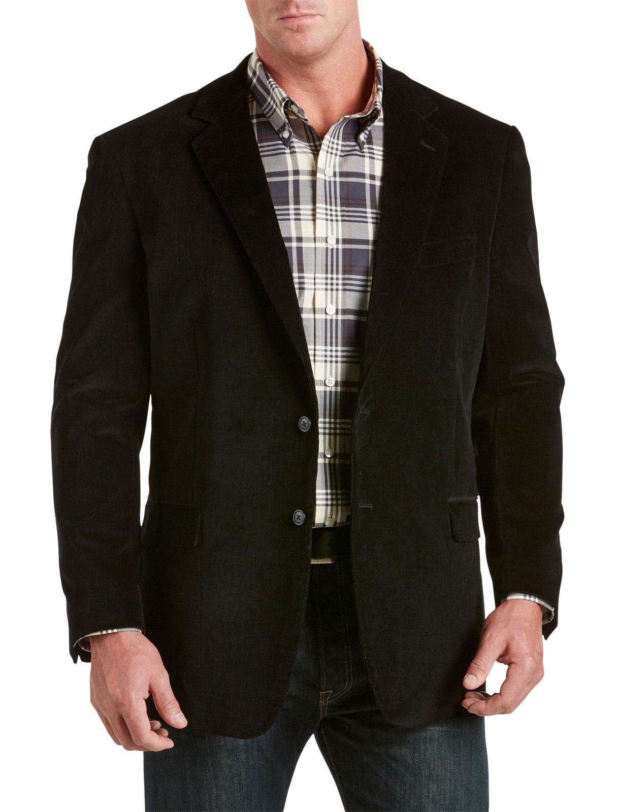 Oak Hill by DXL Big and Tall Corduroy Sport Coat (3XL, Black) by Oak Hill (Image #1)