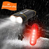 Best Mountain Bike Lights for Night Riding,1000 Lumens Bike Headlight 2 LED【Upgrade Mount】,USB Rechargeable Bicycle…