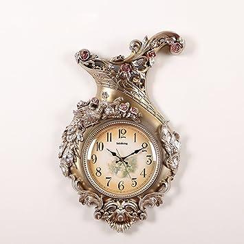 LFGao Relojes De Jardín De Arte Retro Relojes De Pared Decorativos Reloj De Pared De Reloj Personalizado Estilo Negro,B: Amazon.es: Hogar