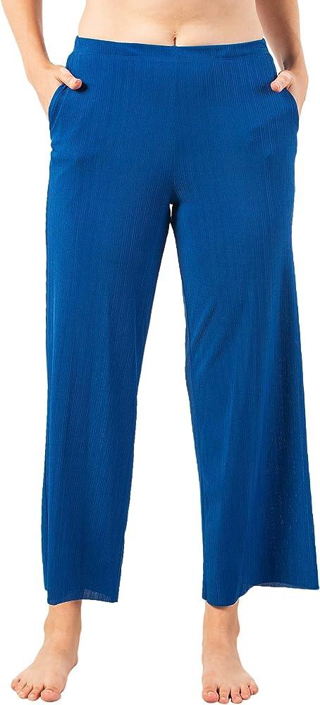 Amazon Com Momomio Pantalones De Verano Para Mujer Con Pierna Ancha Talla S Xxl Xl Clothing