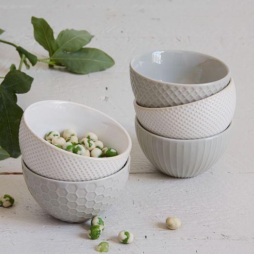Textured Dip Bowls - Dot  | west elm