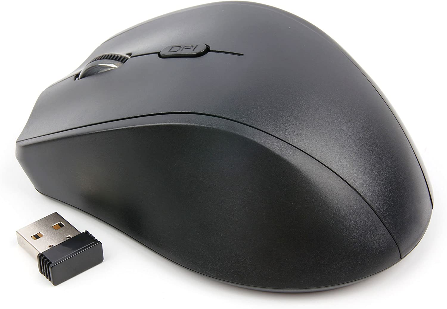 DURAGADGET USB Left Handed Wireless Optical Mouse with Browser Buttons Compatible with The Acer Aspire E5-575G-73CN