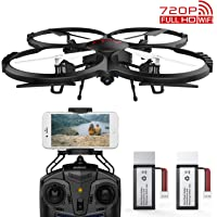 DBPOWER Discovery Wifi FPV Camera Drone with SD Card and Extra Battery for Beginners, Training Quadcopeter with Altitude Hold, One-Key Take-Off/Landing