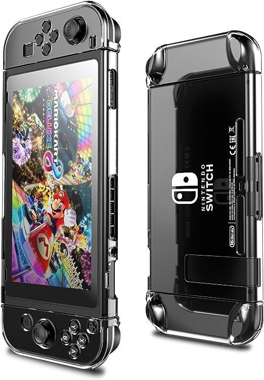 Funda Protectora para Nintendo Switch,AMDISI Con Protector de Pantalla de Interruptor y Cubierta de Cristal Duro Para Consola Nintendo Switch y Nintendo Switch Joy.: Amazon.es: Electrónica