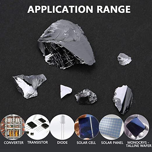 Semiconductor Silicon Silicon Metal Si Metal Element Specialty Metal Raw Materials 99.99/% High Purity for Producing Converter for Making Solar Cell 50g