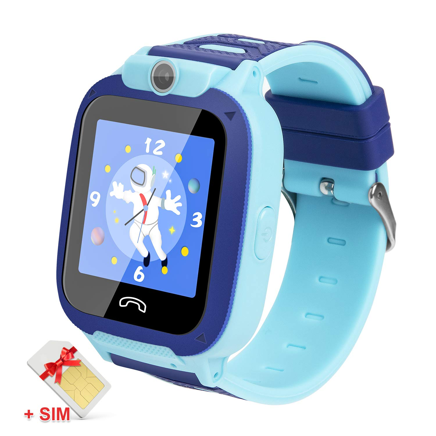Ralehong Kids Smartwatches IP68 Waterproof LBS/GPS Tracker Smart Watch Phone,Calls SOS Camera Voice Chat Touch Screen for 3-13 Years School Girls Boys ...