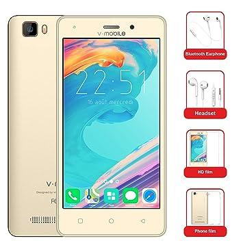 Moviles Baratos v·mobile A10 Telefonos Dual SIM 4G 5.0 Pulgadas Android 7.0 Batería 2800mAh 8GB ROM Cámara 5 MP Auricular Bluebooth Película ...