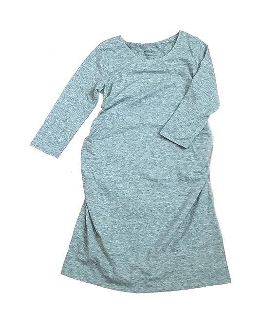 dfc9c8db5b4a0 Liz Lange Maternity Light Heather Gray Tee Shirt Dress (Medium ...