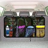 Backseat Organizer, Auto Trunk Storage Bag Space Saving Car Organizer Back Seat Interior Accessories Mesh Pockets…