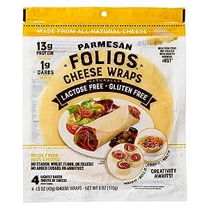 Folios All natural 100% Parmesan Cheese Wraps, 6 oz