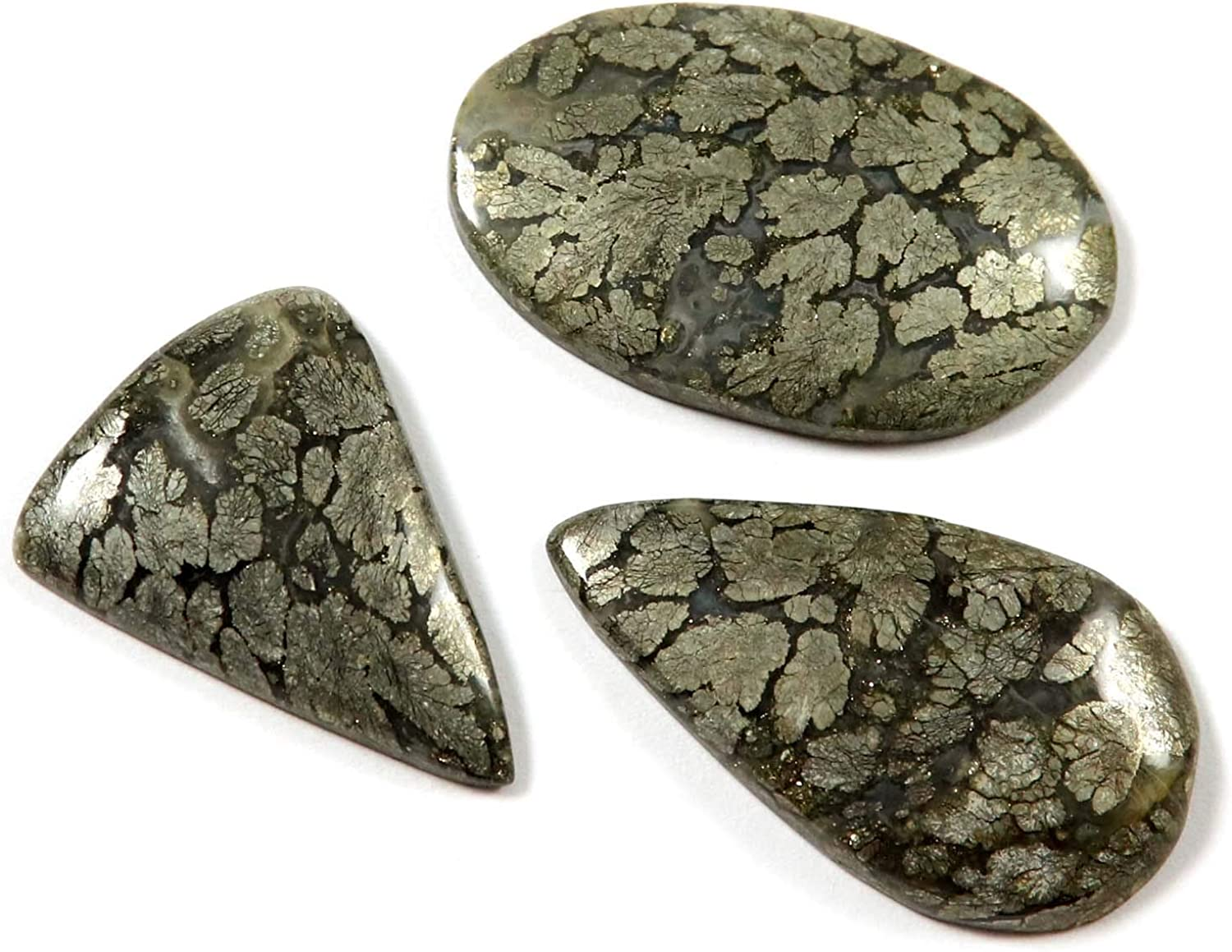 Marcasite Top Quality Natural Marcasite Cabochon Loose Gemstone Designer Marcasite Cabochon For Multi Jewelry Making Gemstone{40x23}mm #2685