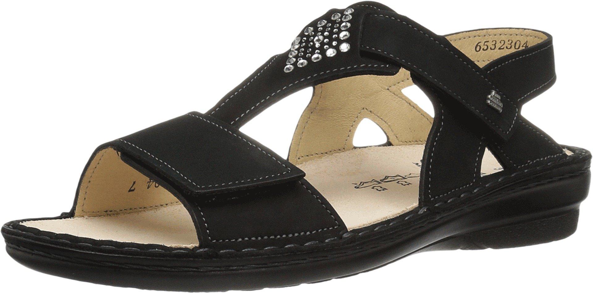 Finn Comfort Women's Calvia Black Nubuck Sandal