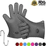 Molecule Silikon Grillen Handschuhe, Backen Handschuhe 1 Paar, Perfekt Grillhandschuhe und Topflappen anti-hot, Kochen-Wasser-Beweis, Widerstandshochtemperatur, gutes Werkzeug für die Küche,Eine Größe Passt Die Meisten