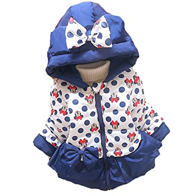 08fdadae3 Minnie Mouse Winter Coat Baby Girls Hooded Jacket Christmas Outerwear Blue  18m