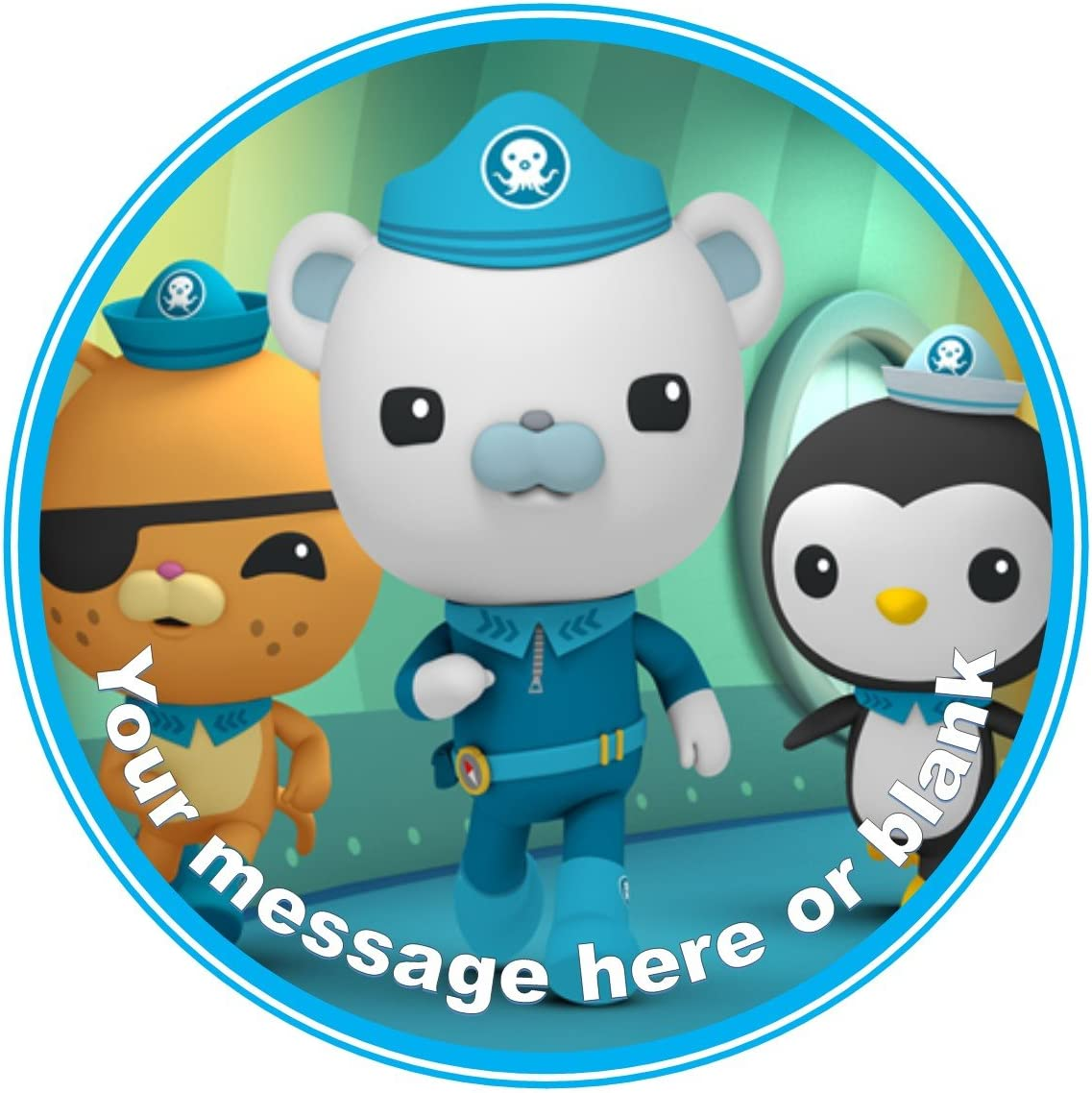 Admirable Nd1 The Octonauts Birthday Personalised Round Cake Topper Approx Funny Birthday Cards Online Necthendildamsfinfo