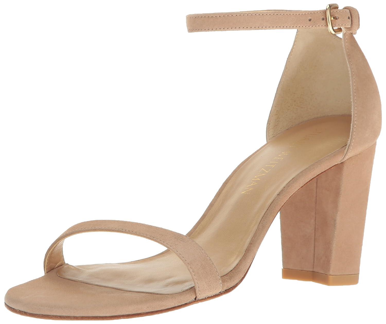 Stuart Weitzman Women's Nearlynude Heeled Sandal B01HIAFHTS 5 B(M) US|Mojave