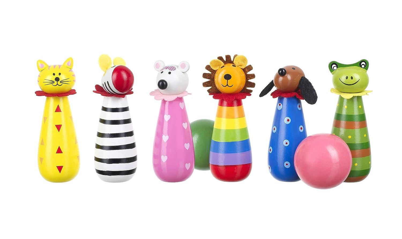 Orange Tree Toys Wooden Animal Skittles Toy