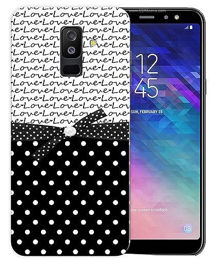 iShoppe Black Polka Love Pattern Printed Designer: Amazon in