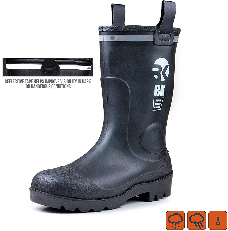 Troy Safety Waterproof Rubber Sole Rain Boot