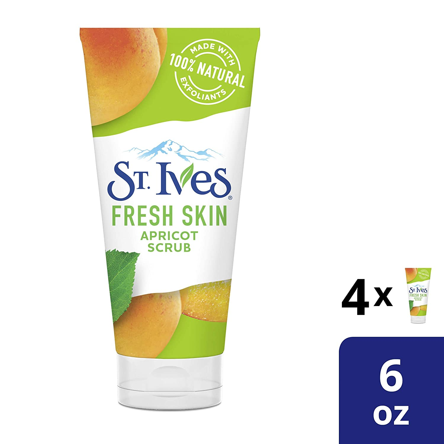 St. Ives Fresh Skin Apricot Face Scrub 6 oz, 4 count