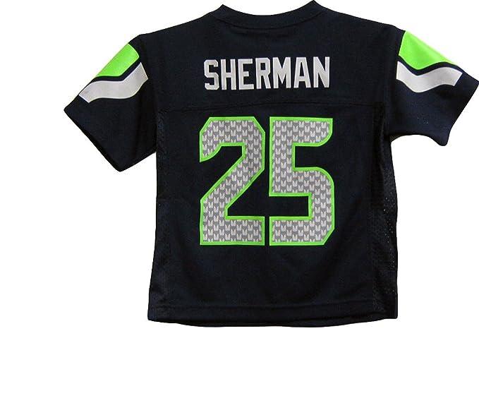 Richard Sherman Seattle Seahawks Navy Blue NFL Toddler 2015-16 Season Mid  Tier Jersey