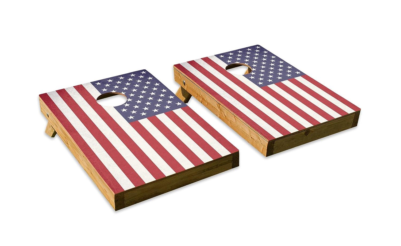 アメリカ国旗デザイン – テールゲートCornholeボードセットwith 8バッグ B07DQK5VXM