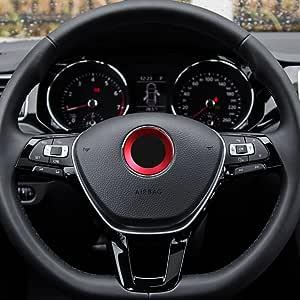 TOPDECO Aluminium Trim Car Steering Wheel Logo Sticker-fit VW ...