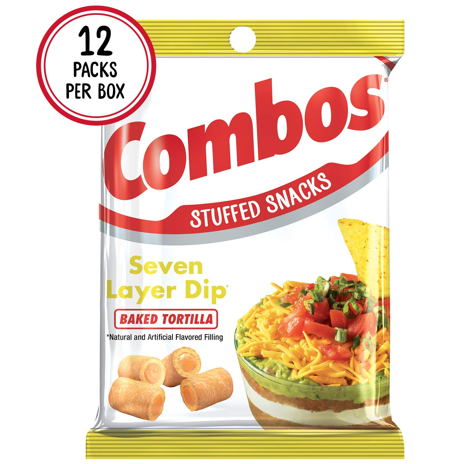 COMBOS 7 Layer Dip Tortilla Baked Snacks 6.3-Ounce Bag (Pack of 12) by Combos