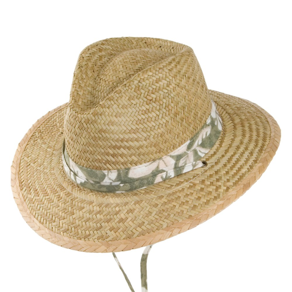 0f28a0bb439c33 Village Hats Dorfman-Pacific Kids Rush Straw Safari Hat - Natural-Green  Child Small: Amazon.co.uk: Clothing