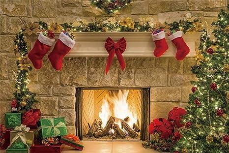 Christmas Hearth.Amazon Com Yeele Christmas Photography Background 8x6ft